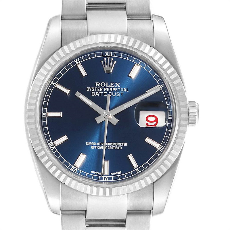 Rolex Datejust 36 Steel White Gold Oyster Bracelet Watch 116234 SwissWatchExpo