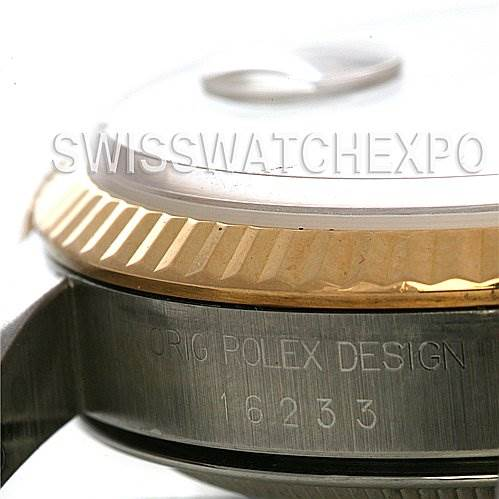 2546A Rolex Rolex Datejust Ss & 18k Yellow Gold Watch 16233 SwissWatchExpo