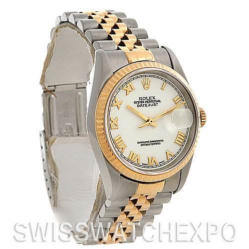 Rolex Rolex Datejust Ss & 18k Yellow Gold Watch 16233 SwissWatchExpo