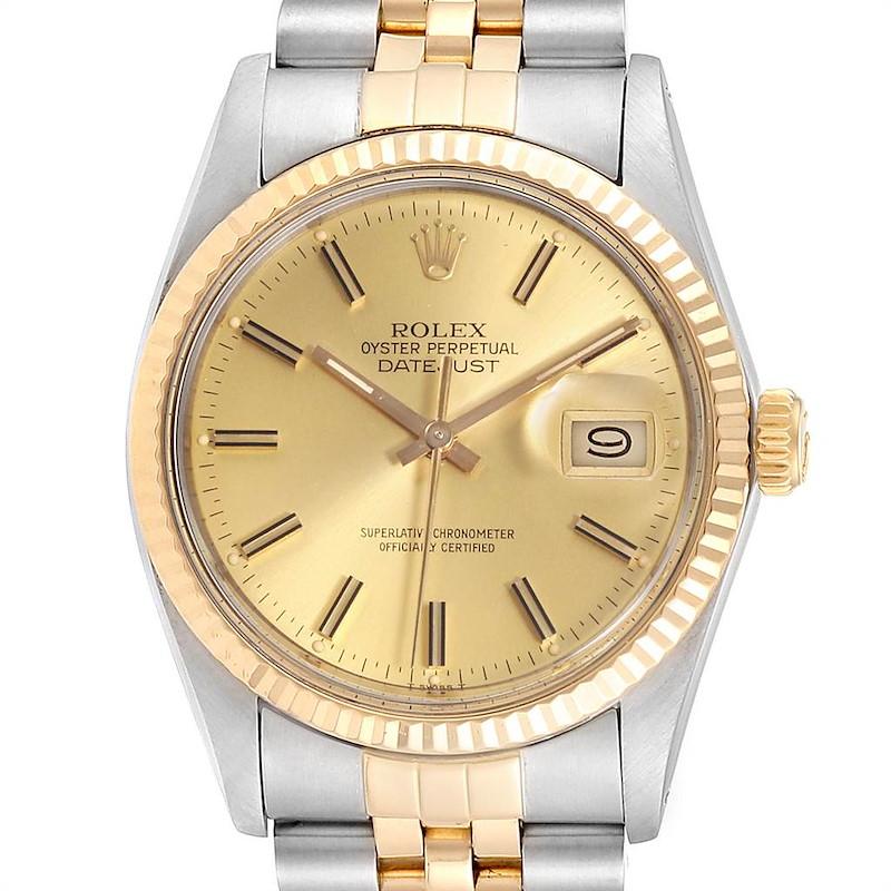 Rolex Datejust 36 Steel 18K Yellow Gold Mens Watch 16013 SwissWatchExpo