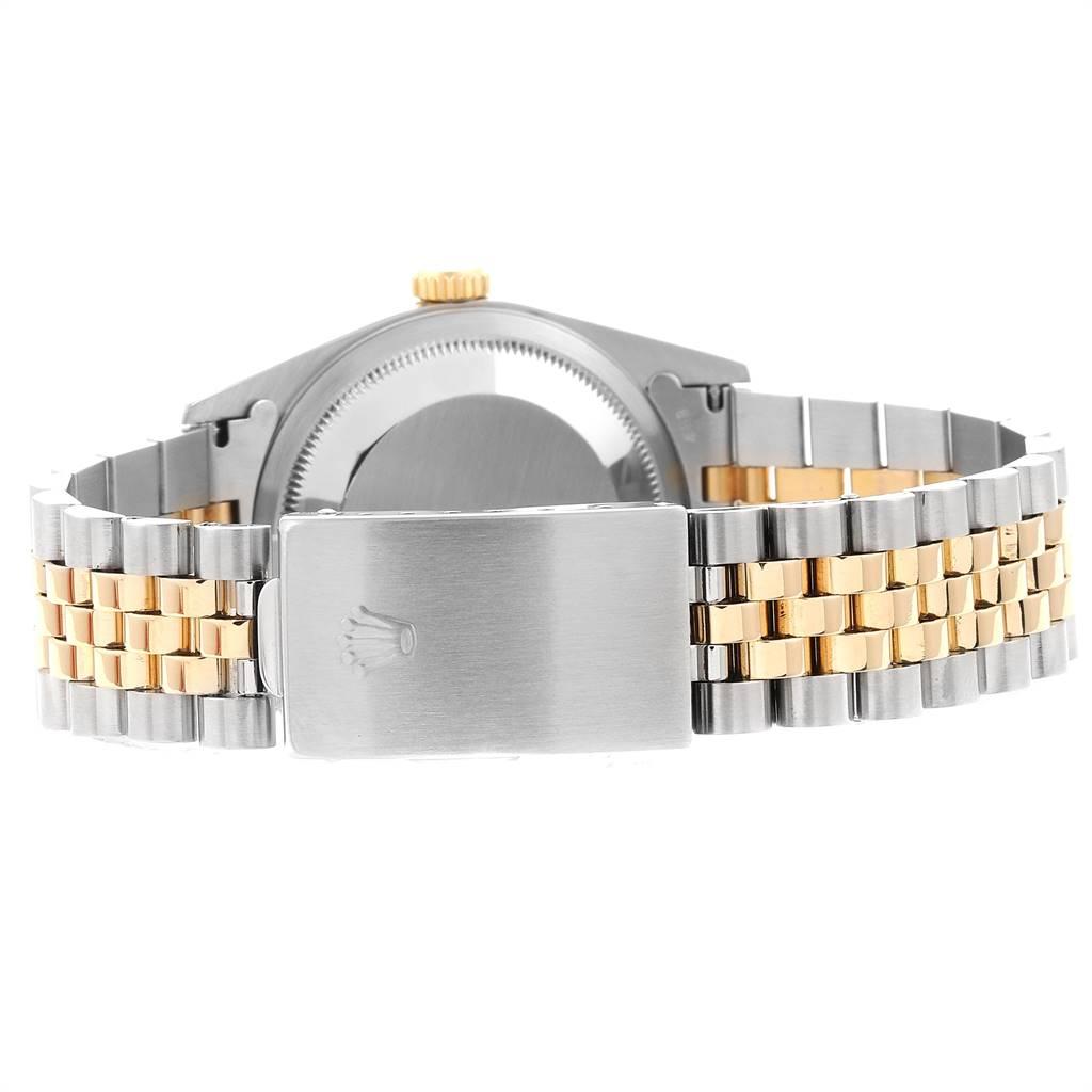 23019 Rolex Datejust Steel Yellow Gold Diamond Mens Watch 16233 Box Papers SwissWatchExpo