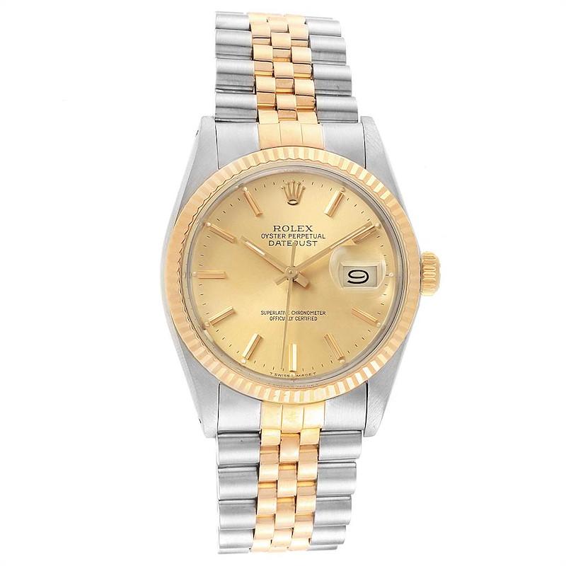 Rolex Datejust 36 Steel Yellow Gold Vintage Mens Watch 16013 SwissWatchExpo