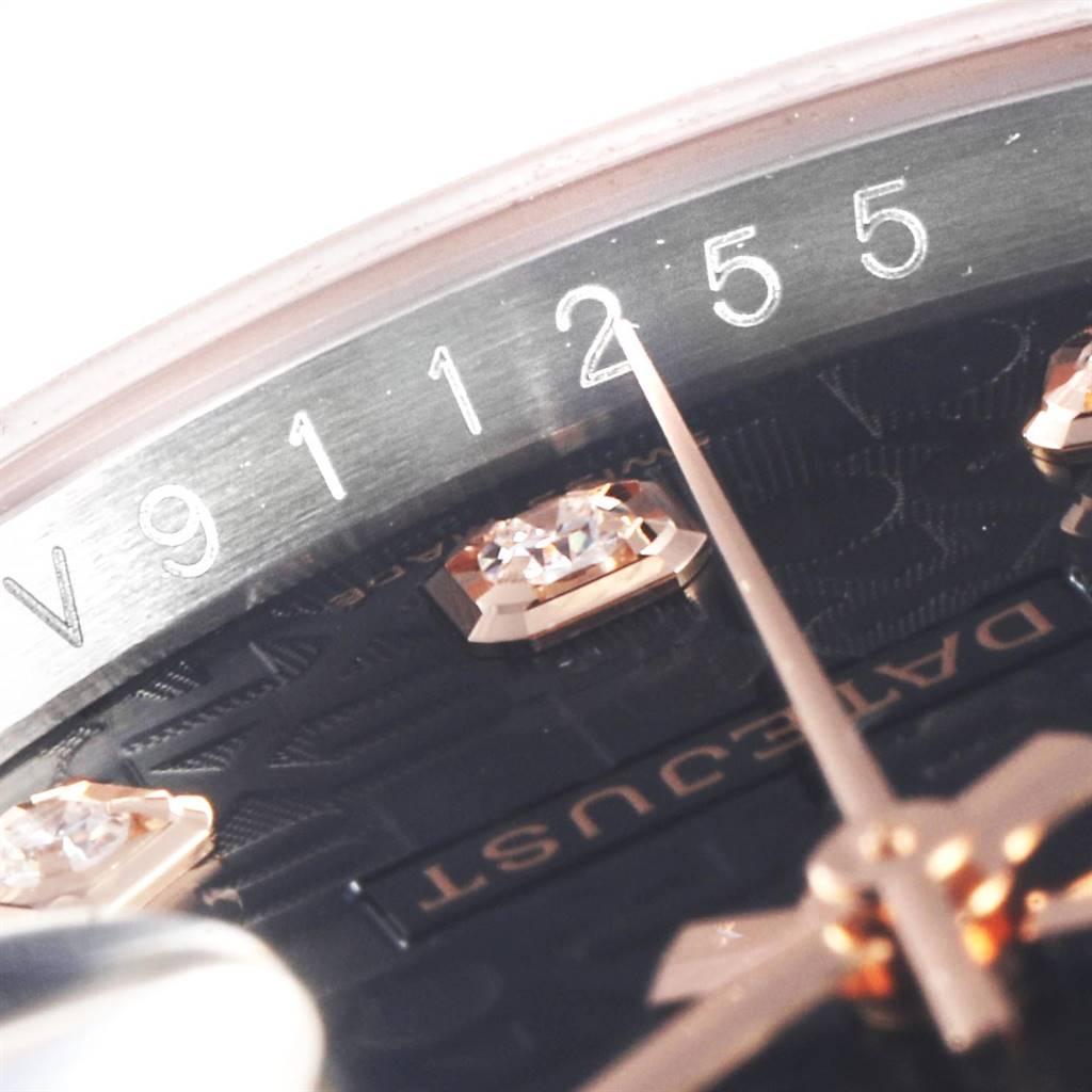 Rolex Datejust 36mm Dial Steel Rose Gold Diamond Unisex Watch 116231 SwissWatchExpo
