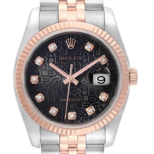 Photo of Rolex Datejust 36mm Dial Steel Rose Gold Diamond Unisex Watch 116231