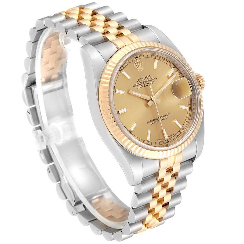 Rolex Datejust 36 Steel Yellow Gold Jubilee Bracelet Mens Watch 116233 SwissWatchExpo