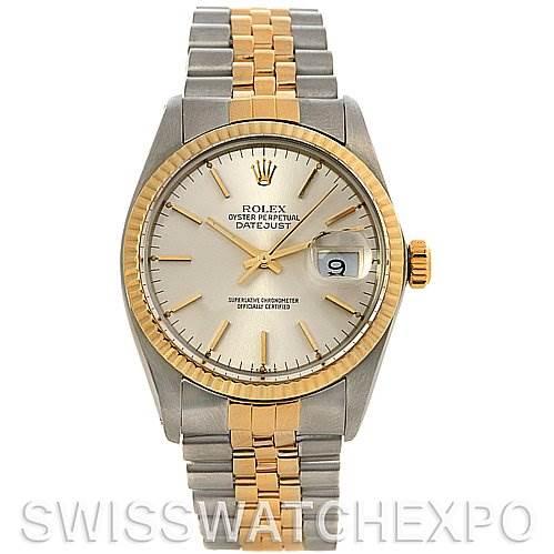 2643 Rolex Datejust Mens SS 18k Yellow Gold Watch 16013 SwissWatchExpo