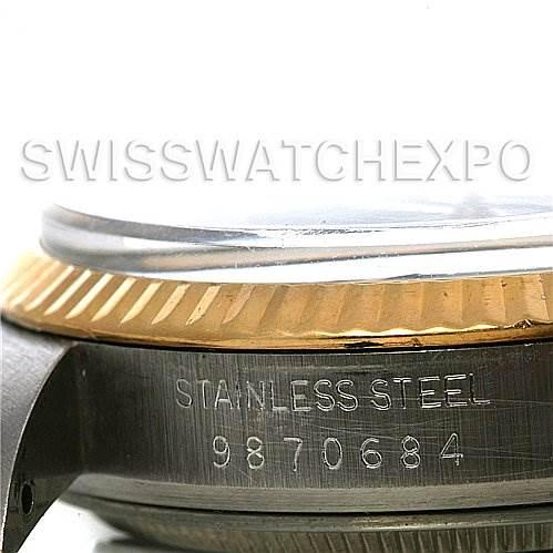 2625 Rolex Datejust Mens SS 18k Yellow Gold Watch 16013 SwissWatchExpo