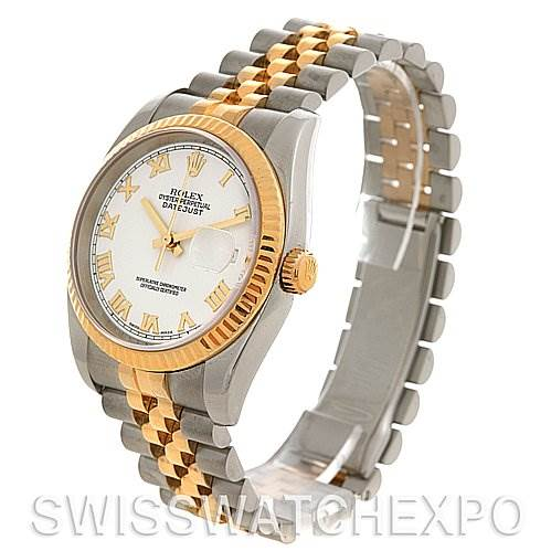 2652 Rolex  Datejust Mens SS 18K Yellow Gold 116233 Yr 2005 SwissWatchExpo