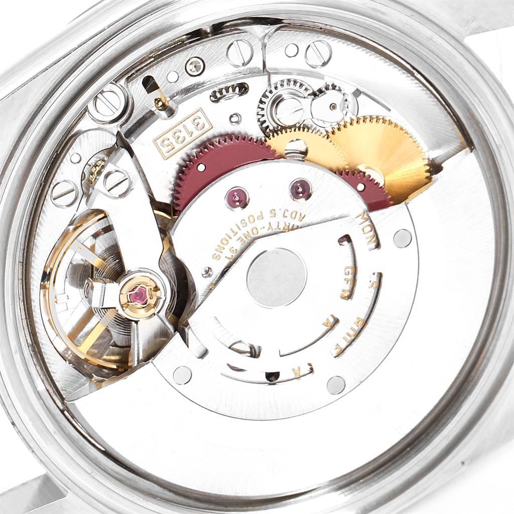 25303 Rolex Datejust Blue Dial Oyster Bracelet Steel Mens Watch 16200 SwissWatchExpo