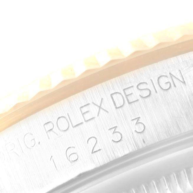 9902X Rolex Datejust Steel Yellow Gold White Dial Mens Watch 16233 Box Papers SwissWatchExpo