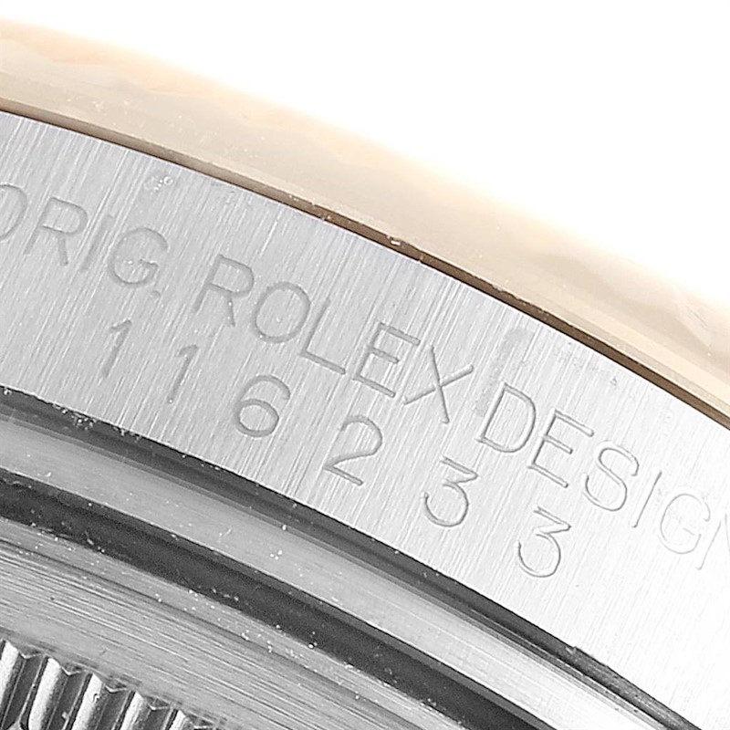 Rolex Datejust 36 Steel Yellow Gold Sunbeam Dial Mens Watch 116233 SwissWatchExpo