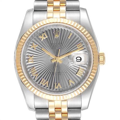 Photo of Rolex Datejust 36 Steel Yellow Gold Sunbeam Dial Mens Watch 116233