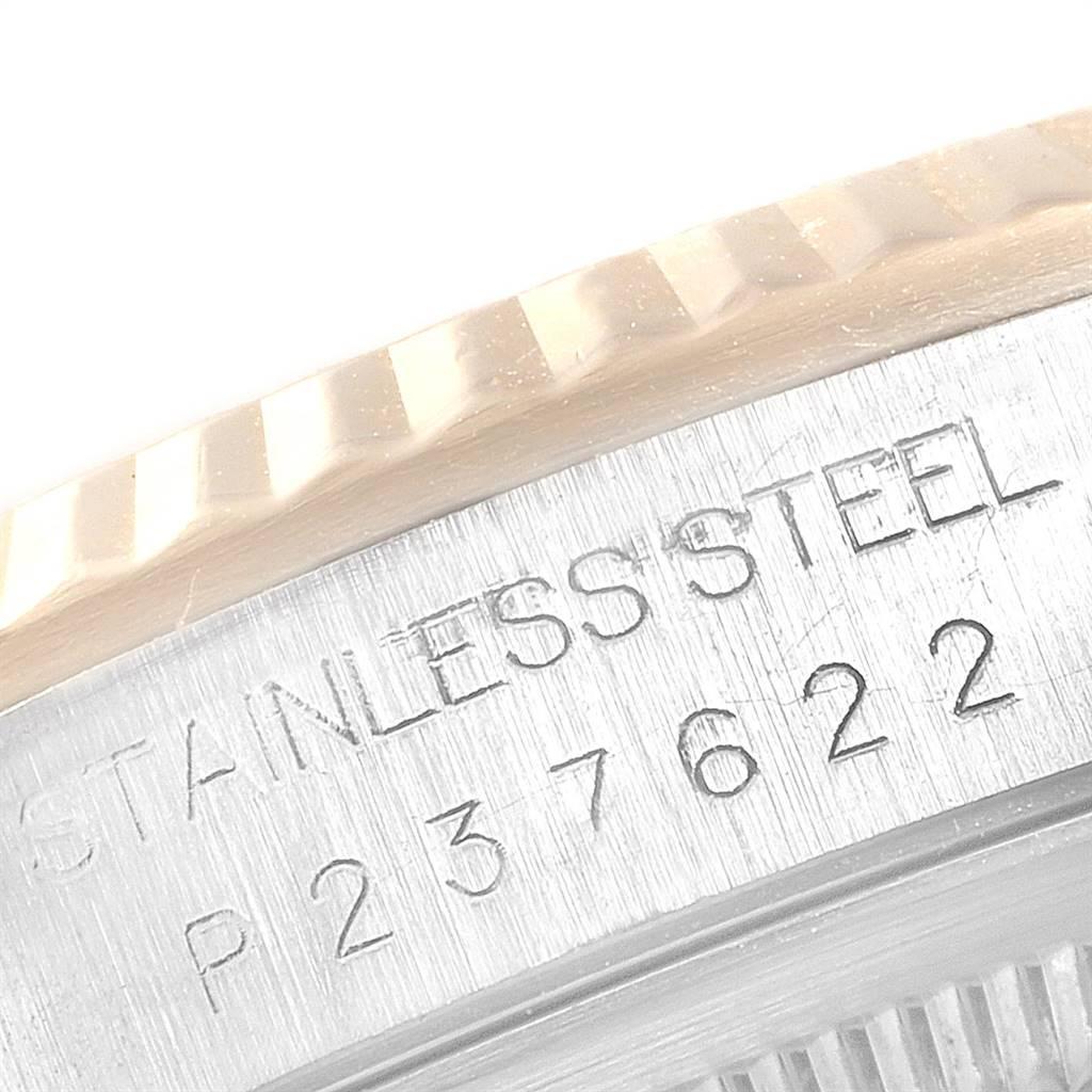 26286 Rolex Datejust Steel Yellow Gold Mother of Pearl Diamond Mens Watch 16233 SwissWatchExpo