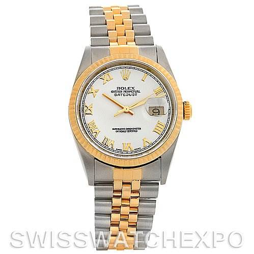 Rolex  Datejust SS/18k y gold watch 16233 Box Papers SwissWatchExpo