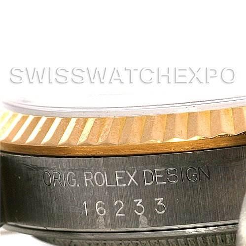 2678 Rolex  Datejust SS/18k y gold watch 16233 Box Papers SwissWatchExpo