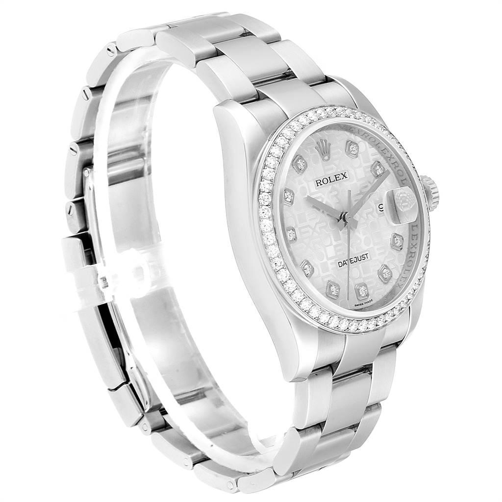 Rolex Datejust 36 Silver Anniversary Diamond Dial Bezel Unisex Watch 116244 SwissWatchExpo