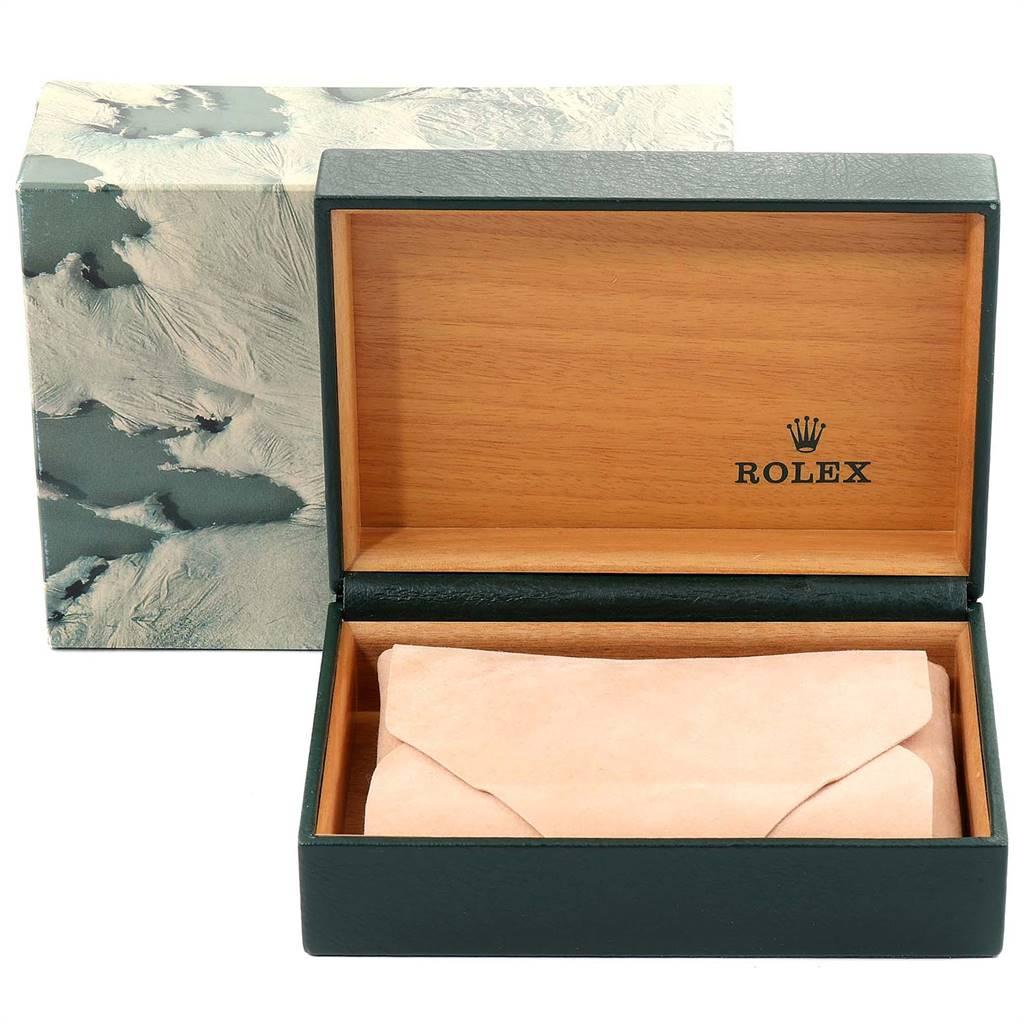 Rolex Datejust White Roman Dial Oyster Bracelet Steel Mens Watch 16200 SwissWatchExpo