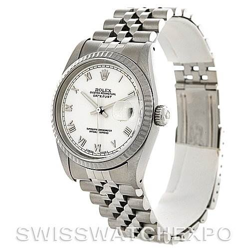 2799 Rolex Mens Rolex Datejust Steel 18K White Gold 16234 Watch SwissWatchExpo