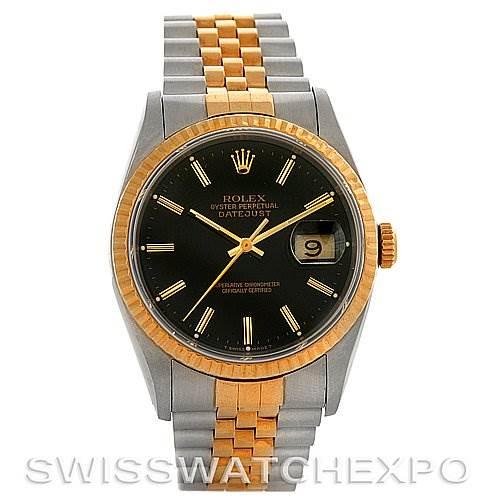 3027 Rolex Datejust Steel and 18k yellow gold watch 16233 SwissWatchExpo