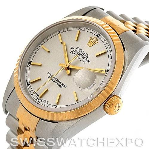 2999 Rolex Datejust Steel and 18k yellow gold watch 16233 SwissWatchExpo
