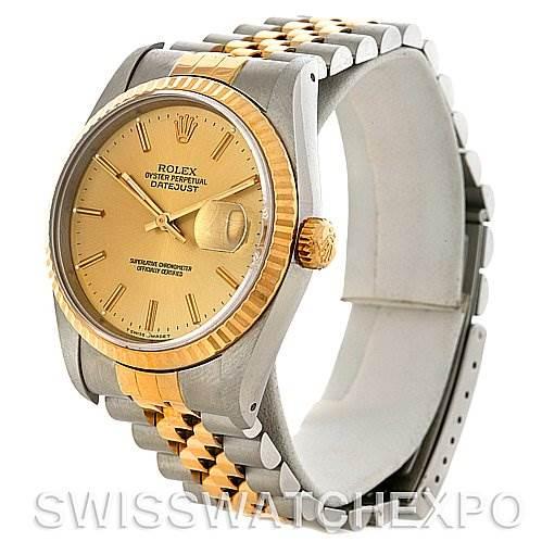 3006 Rolex Datejust Steel and 18k yellow gold watch 16233 SwissWatchExpo
