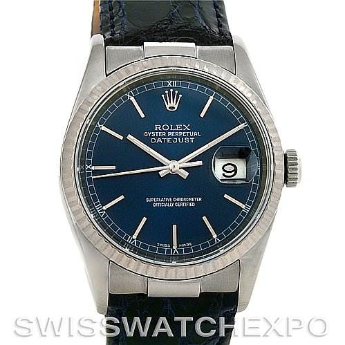 4050 New Style Steel 18K Gold Rolex Datejust with End Links SwissWatchExpo