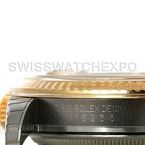 4070 Rolex Datejust Mens Steel and 18K Yellow Gold Champagne dial 116233 Unworn SwissWatchExpo