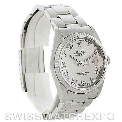 4131 Mens Rolex Datejust Steel 18K White Gold Watch 16234  SwissWatchExpo