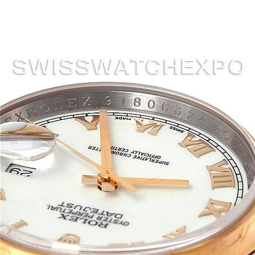 4696 Rolex Datejust Mens Steel and 18K Yellow Gold White Dial Watch 116203 SwissWatchExpo
