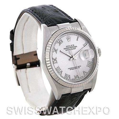 4709 Rolex Datejust Steel 18K White Gold Watch 16234   SwissWatchExpo