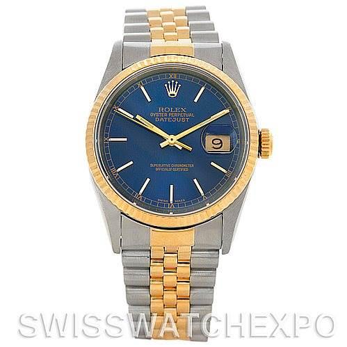 5204 Rolex Datejust Steel 18k Yellow Gold Watch 16233 SwissWatchExpo