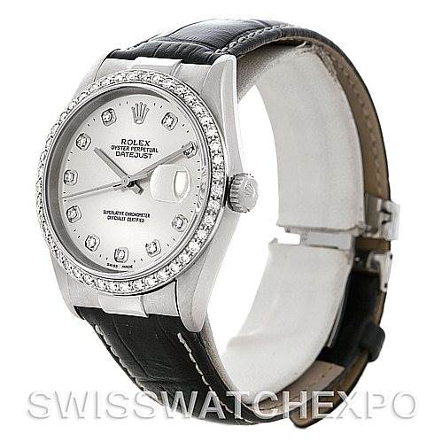 5108 New Style Steel 18K Gold Diamond Rolex Datejust with End Links SwissWatchExpo