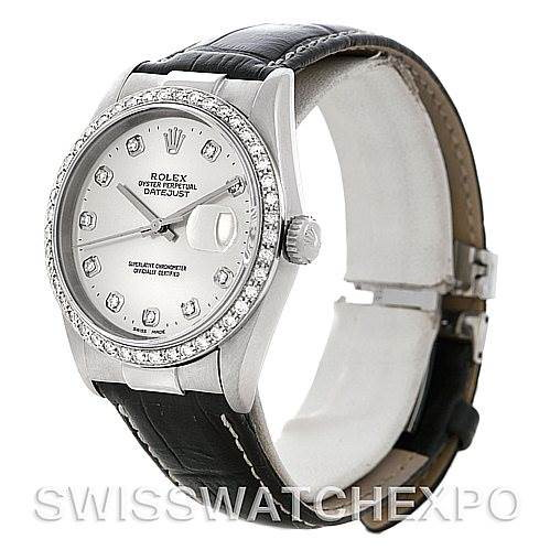 New Style Steel 18K Gold Diamond Rolex Datejust with End Links SwissWatchExpo