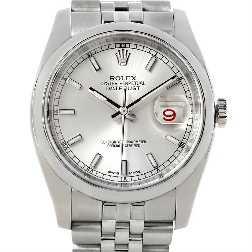 5678 Rolex Datejust Men Stainless Steel Watch 116200 SwissWatchExpo