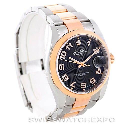 6834 Rolex Datejust Mens Steel 18K Rose Gold Watch 116201 Unworn SwissWatchExpo