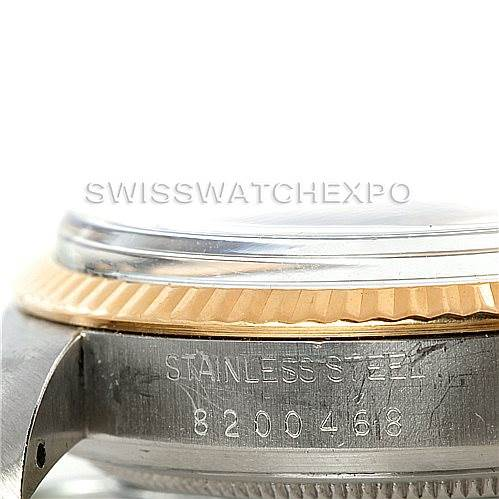 Rolex Datejust Vintage Mens Steel 18K Gold Watch 16013 SwissWatchExpo