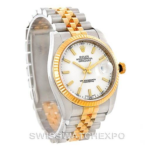 7481 Rolex Datejust Mens Steel 18K Yellow Gold Watch 116233 SwissWatchExpo