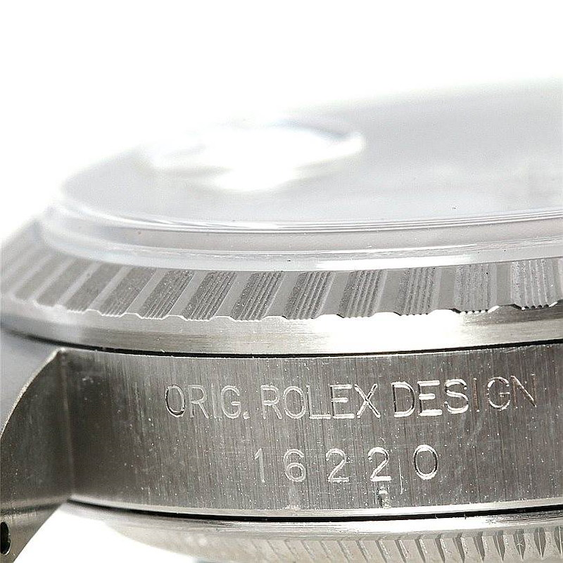 Rolex Datejust White Roman Dial Mens Steel Watch 16220 SwissWatchExpo