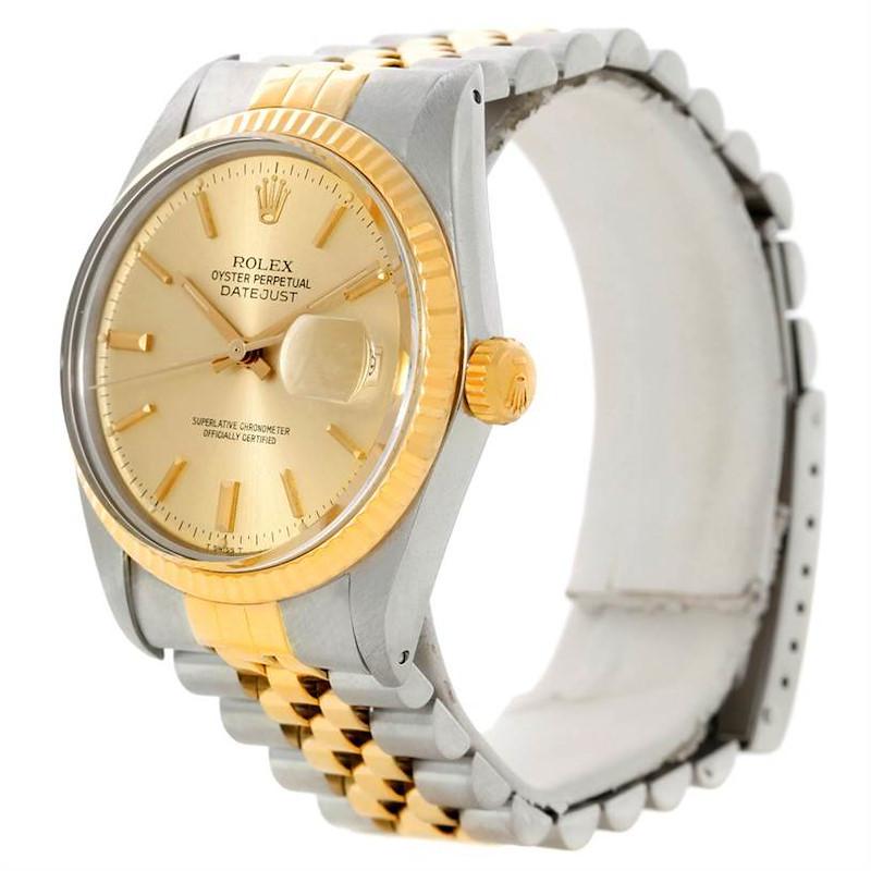 Rolex Datejust Vintage Mens Steel 18K Gold Watch 16013 SwissWatchExpo