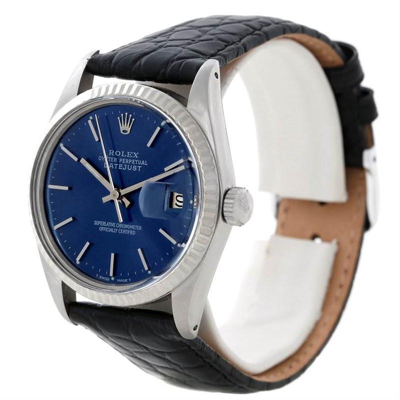 Rolex Datejust Vintage Mens Steel 18K White Gold Watch 16014 SwissWatchExpo