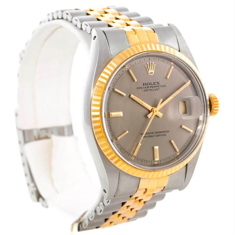 Rolex Datejust Vintage Mens Steel 14K Yellow Gold Watch 1601 SwissWatchExpo