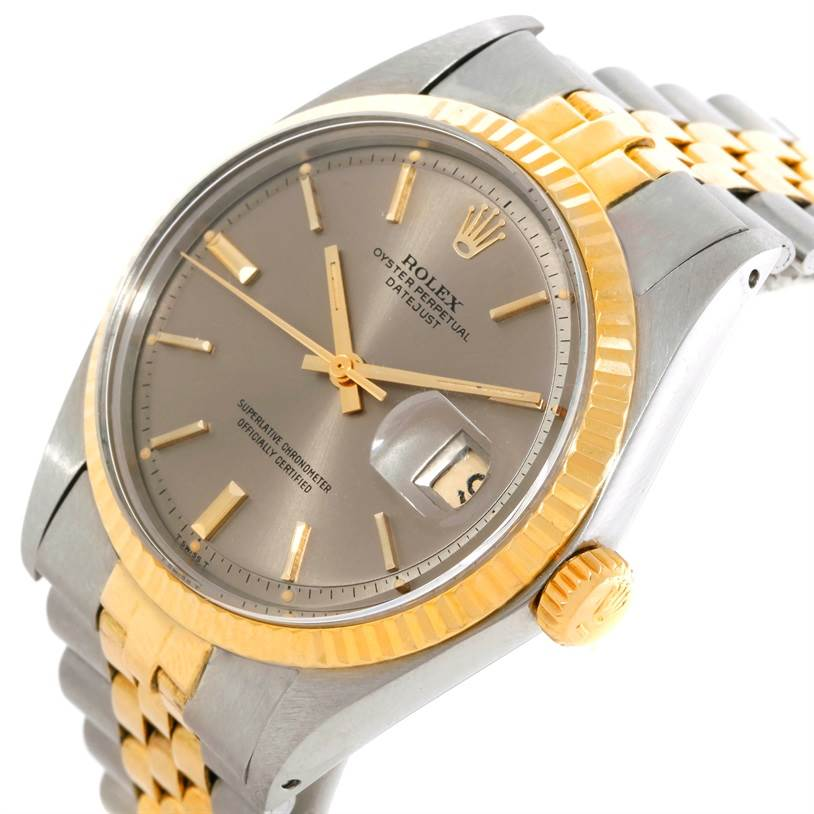 9167 Rolex Datejust Vintage Mens Steel 14K Yellow Gold Watch 1601 SwissWatchExpo