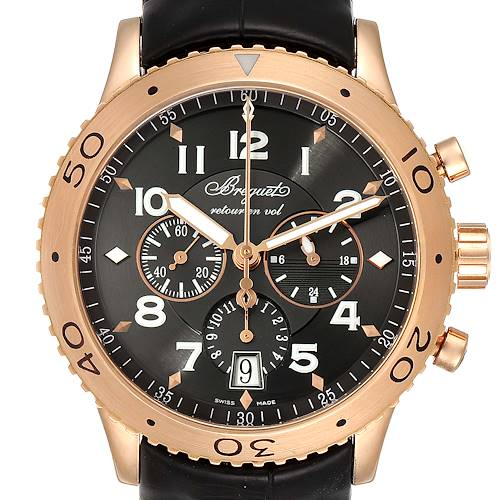Photo of Breguet Type XXI Flyback 18K Rose Gold Chronograph Mens Watch 3810BR