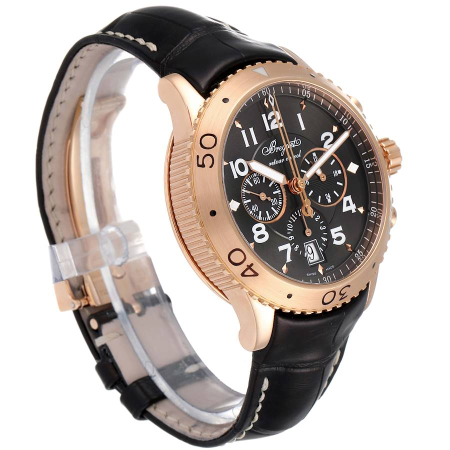Breguet Type XXI Flyback 18K Rose Gold Chronograph Mens Watch 3810BR SwissWatchExpo