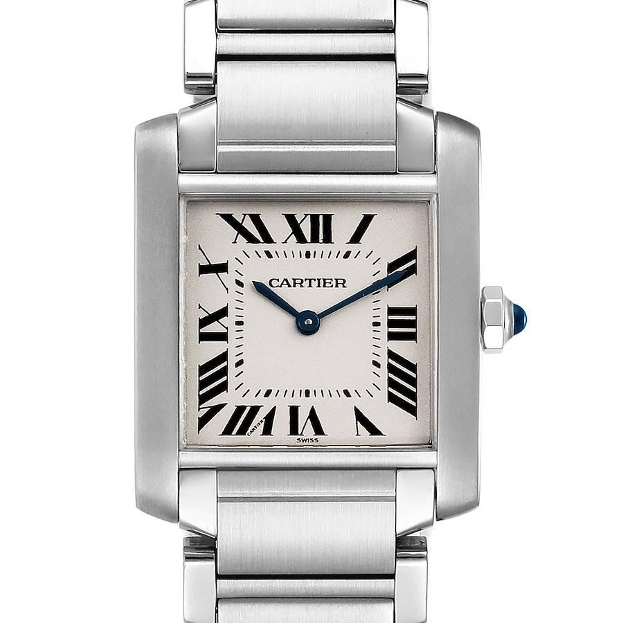 Cartier Tank Francaise Midsize Silver Dial Steel Ladies Watch WSTA0005 SwissWatchExpo