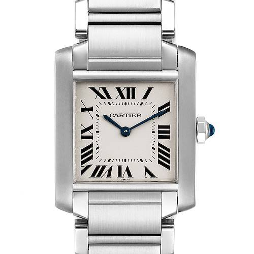 Photo of Cartier Tank Francaise Midsize Silver Dial Steel Ladies Watch WSTA0005