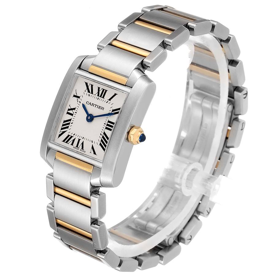 Cartier Tank Francaise Small Two Tone Ladies Watch W51007Q4 SwissWatchExpo