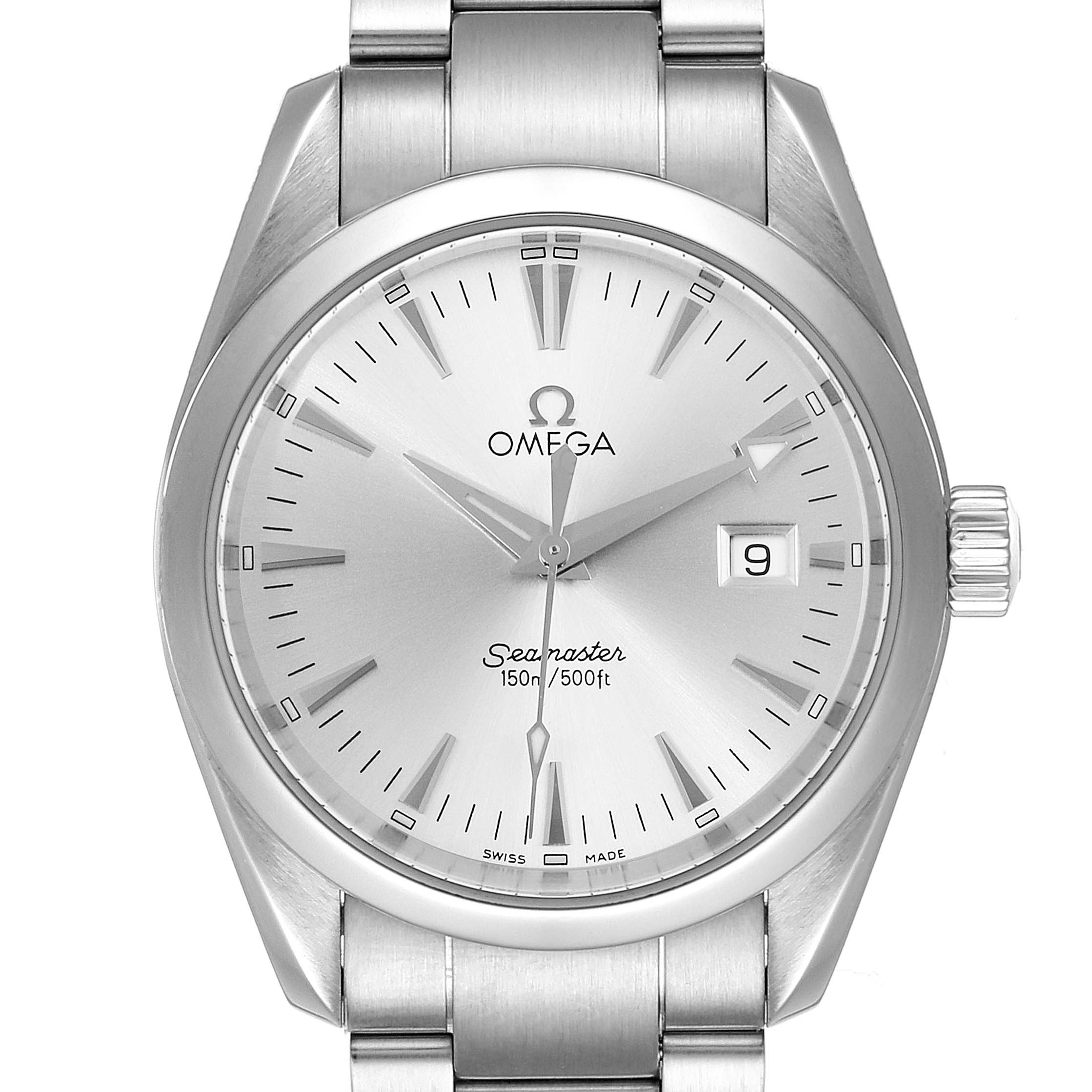 Omega Seamaster Aqua Terra 36 Silver Dial Steel Watch 2518.30.00 SwissWatchExpo