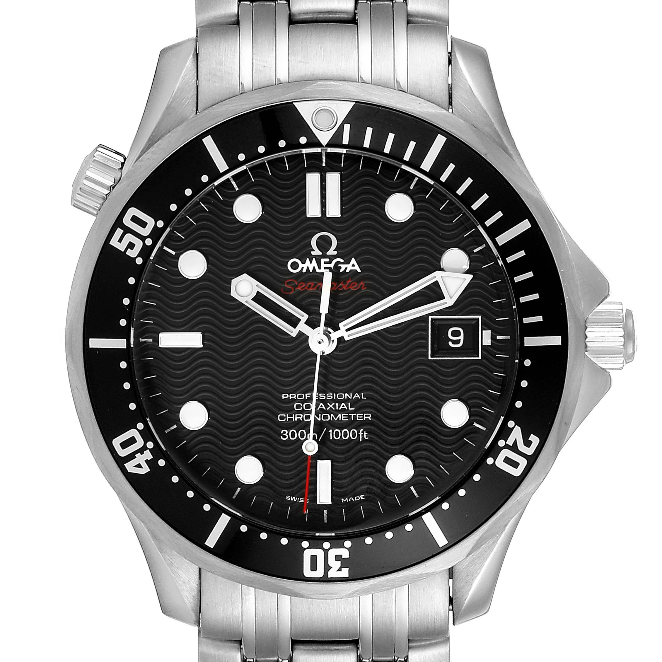 Omega Seamaster Black Dial Steel Mens Watch 212.30.41.20.01.002 SwissWatchExpo