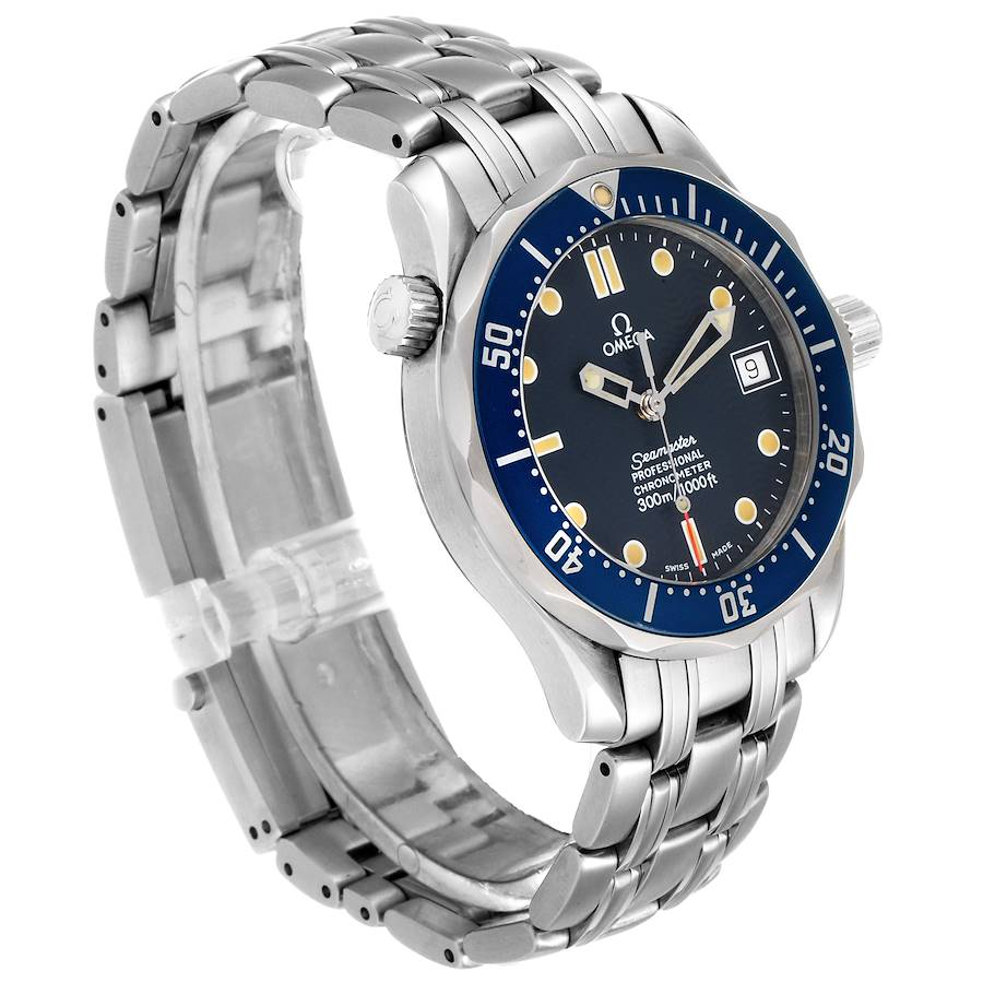 Omega Seamaster Midsize 36mm Blue Dial Steel Mens Watch 2551.80.00 Card SwissWatchExpo